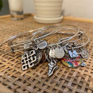 Multiple Alex and Ani Bracelets